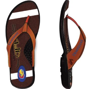 Kansas Jayhawks Football Flip Flops