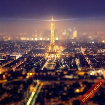 Modern Paris Eiffel Tower pictures silk fabric Poster Landscap black and white wall art pictures for living room wall home decor
