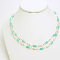 Turquoise Sea necklace by ZorNella on Etsy