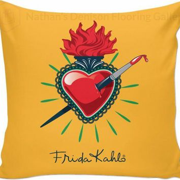 Frida Kahlo Pierced Heart Couch Pillow