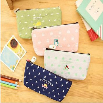 Students Pen Pencil Case Canvas Bag Cosmetic Makeup Pouch Coin Purse Popular New Easy to Carry nov3 Extraordinary