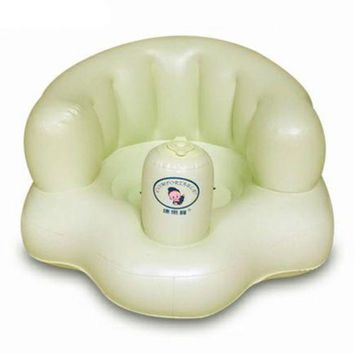 Thick Wide Baby Inflatable Stool Chair Sofa   green