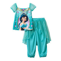 Disney's Aladdin Jasmine Dress-Up Pajama Set - Toddler Girl