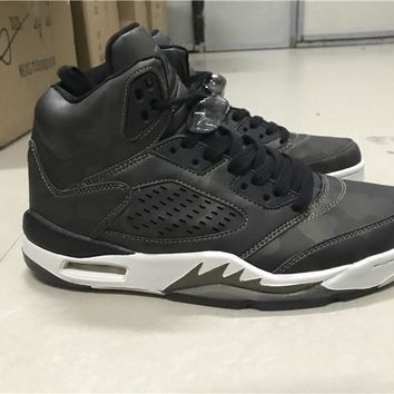 Air Jordan 5 Premium Heiress Men Basketball Shoes 919710-030 Black Light Bone Metallic Field Camo Athletic Trainer Sports Sneakers