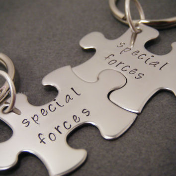 Special Forces Keychains, Couples Keychains, Military Couple, Couples Gift