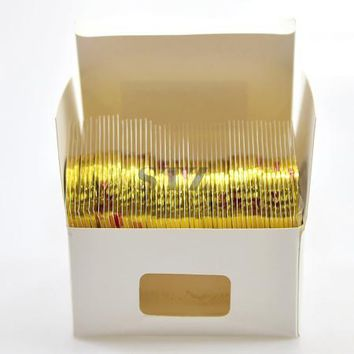2mm 50 Rolls/Lot New Nail Laser Glitter Tips Wire Striping Tape Line Gold/Silver DIY Wrap Nail Art Sticker NC362-363