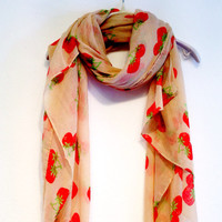 Strawberry Beige Scarf