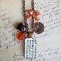 1940's Dictionary definition Oklahoma State OSU necklace
