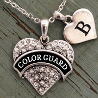 Custom Initial Color Guard Necklace