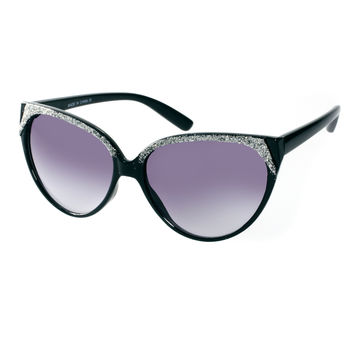 ASOS Glitter Highbrow Cat Eye Sunglasses