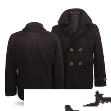 Batman Bat Symbol Seam Heavy Peacoat