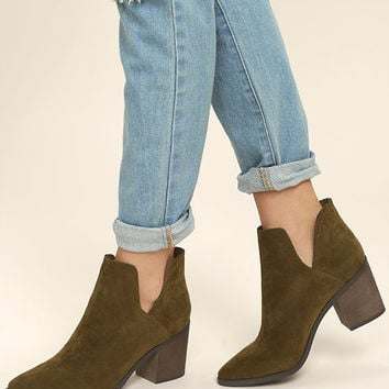 Ezra Tan Suede Ankle Booties