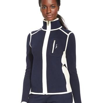 Lauren Ralph Lauren Ribbed Cotton Track Jacket