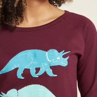 Try, Triceratops Again Graphic Sweatshirt in M