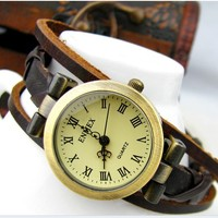 Rope winding strap elegant leather hand rope Watch