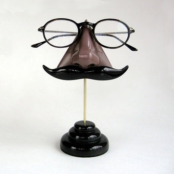 e0b122b0269c Chocolate Brown Nose Eyeglass stand by ArtAkimbo on Etsy