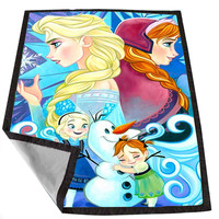Children Elsa And Anna Frozen 81fc9b73-6fcc-4041-9ff4-93eb9933ab6c for Kids Blanket, Fleece Blanket Cute and Awesome Blanket for your bedding, Blanket fleece *02*