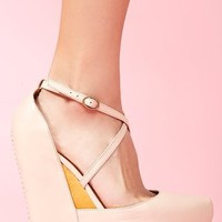 Nadia Platform Wedge in  Shoes at Nasty Gal