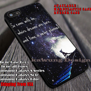 Starry Night Never Grow Up Story, Quote, Peterpan, Disney, Neverland, case/cover for iPhone 4/4s/5/5c/6/6+/6s/6s+ Samsung Galaxy S4/S5/S6/Edge/Edge+ NOTE 3/4/5 #cartoon #animated #disney #peterpan ii