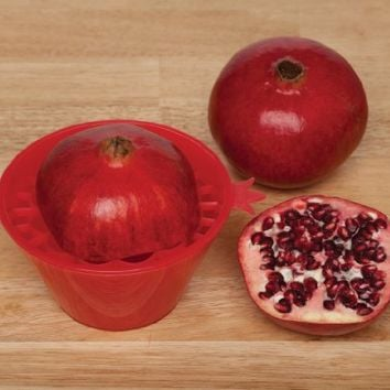 The Pomegranate Deseeder Seed Removal Tool, No Mess, Red