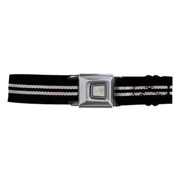Ford Burst Seatbelt - Silver Stripe Web Belt