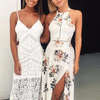 Lilly Willow Boho Floral Maxi Dress