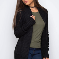 Daybreak Knit Cardigan - Black