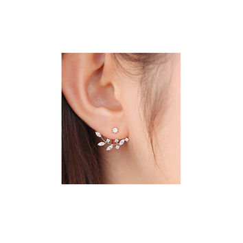 Zhenshecai Romantic Tin Alloy Plastic Stud Earrings For Women E016