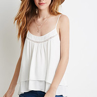 Layered Pom Trim Cami
