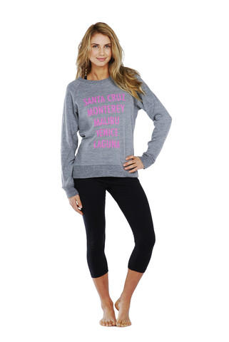 C&C California Beaches of CA Raglan Sweatshirt