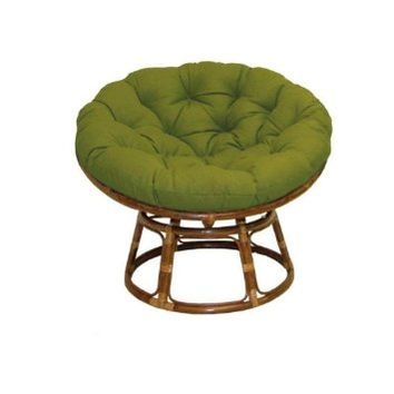 Rattan Papasan Chair With Fabric Cushion From Amazon The Pad