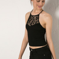 BSK strappy lace top - New - Bershka Ireland