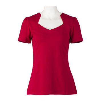 Online Boutiques Red Black Tops Cotton American Vintage Ladies T-Shirts 50s Style Rockabilly Retro Clothing for Women