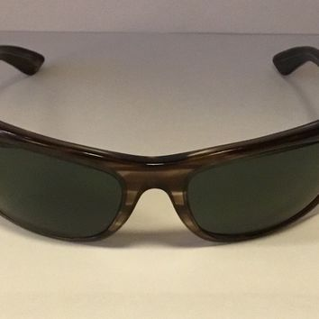 1960's/1970s' VINTAGE B&L RAY BAN LIGHT TORTOISE G15 UV BALORAMA WRAP SUNGLASSES