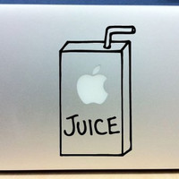 30&% OFF!  Apple Juice Box Macbook or Laptop Decal  Macbook Apple Macbook  Sticker Mac Book Apple Decals Stickers Laptop Computer Accesory