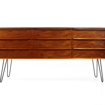 Vintage Danish Modern Dresser or Credenza on Hair Pin Legs