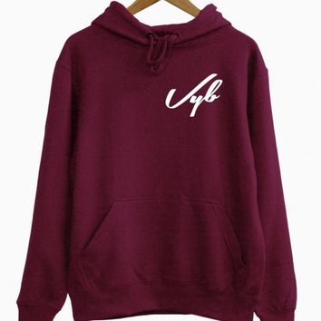 Vyb left chest hoodie