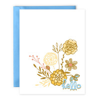 Hello - Blank Card - Stationery - by Yellow Daisy Paper Co.
