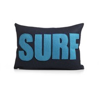 Surf Pillow - Navy/Turquoise