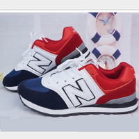 New balance abric is breathable n leisure sports shoes women's shoes Couples forrest gump students running Blue-red