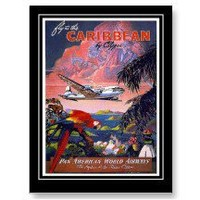 Postcard Vintage Travel Caribbean