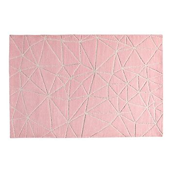 Crystal Mosaic Kids Rug (Pink) | The Land of Nod