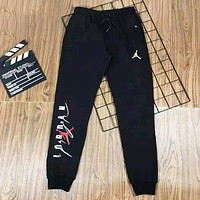 Jordan Fashion New Letter Print Men Sports Leisure Pants Black
