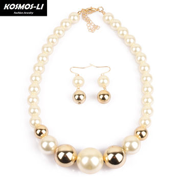 simulated big pearl necklace bridal jewelry Womens necklace female wedding gifts