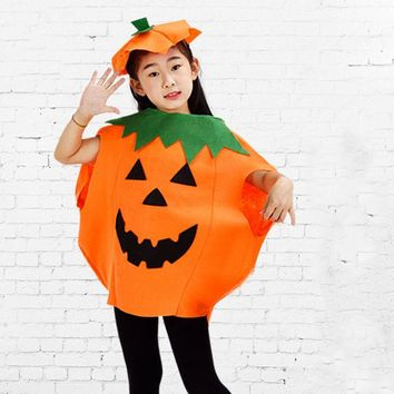 Pumpkin Cute Halloween Fancy Dress Party Adults Kids Children Cosplay Costume Outfit Hot