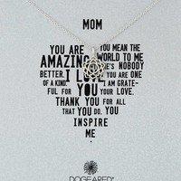 Dogeared It's Personal Mom Bloom Sterling Silver Chain Necklace, 18""
