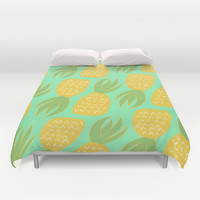 Pineapple Pattern Duvet Cover by Allyson Johnson