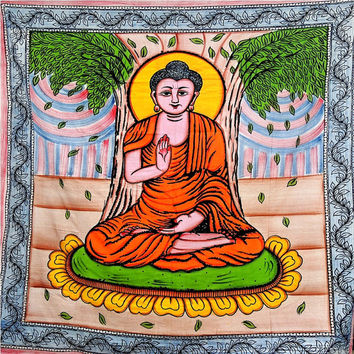 Meditating Buddha Tapestry, Wall Tapestries, Hippie Tapestries, Tapestry Wall Hanging, Indian Tapestry, Bedspread , Tibetan Tapestry