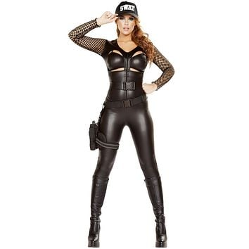Police Girl Raid SWAT Halloween Costume
