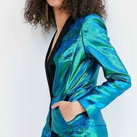 Silence + Noise Sirena Iridescent Suit Pant - Urban Outfitters